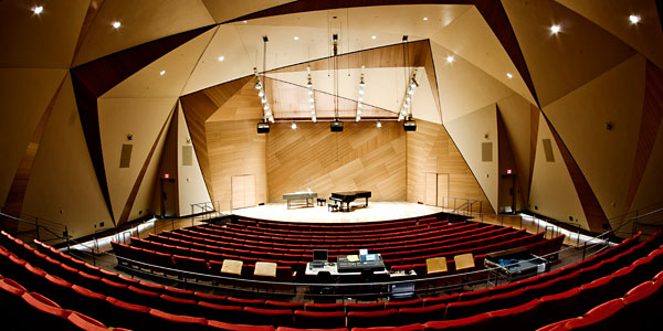 The concert hall of the Conrad Prebys Music Center.